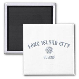 Ciudad de Long Island Imán Cuadrado