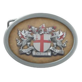 Ciudad de los brazos de Londres Hebilla Cinturón Oval
