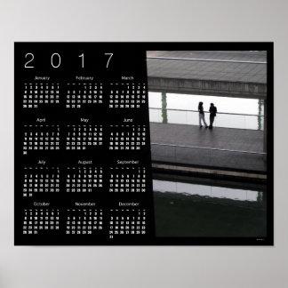 Ciudad de los PARES del poster 2017 del calendario