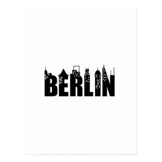 Ciudad de los rascacielos del horizonte de Berlín Postales