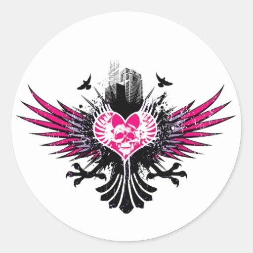 Ciudad de los sueños (rosa) - modificado para requ pegatinas
