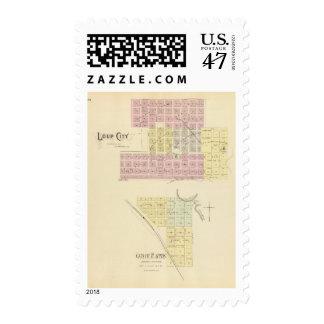 Ciudad de Loup, Nebraska Timbre Postal