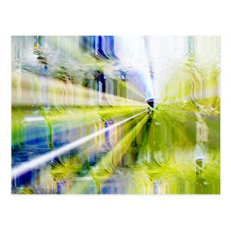 Ciudad de luces y de jardines tarjeta postal