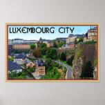 Ciudad de Luxemburgo Poster