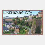 Ciudad de Luxemburgo Rectangular Pegatinas