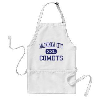 Ciudad de Mackinaw - cometas - alta - ciudad de Ma Delantal
