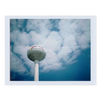 Ciudad de Mackinaw, postal de la torre de agua del