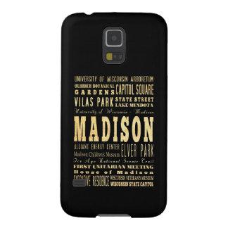 Ciudad de Madison del arte de la tipografía de Funda Para Galaxy S5