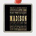 Ciudad de Madison del arte de la tipografía de Wis Adornos