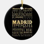 Ciudad de Madrid del arte de la tipografía de Adornos De Navidad