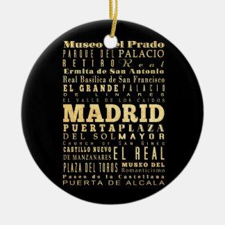 Ciudad de Madrid del arte de la tipografía de Adorno Redondo De Cerámica