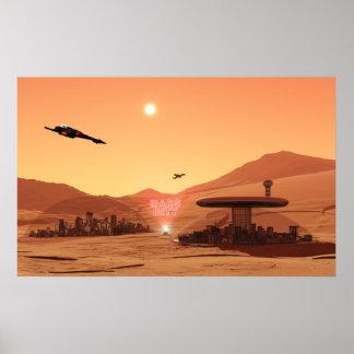 Ciudad de Marte Póster