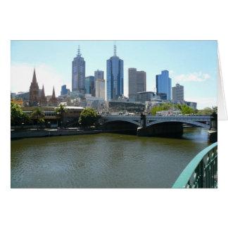 ciudad de Melbourne Tarjeta De Felicitación