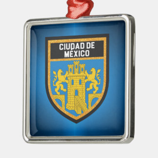 Ciudad de México Flag Metal Ornament