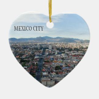 Ciudad de México, visión aérea que parece del Adorno Navideño De Cerámica En Forma De Corazón