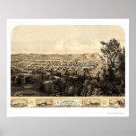 Ciudad de Michigan, EN el mapa panorámico - 1869a Poster