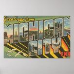 Ciudad de Michigan, Indiana - escenas grandes de l Poster