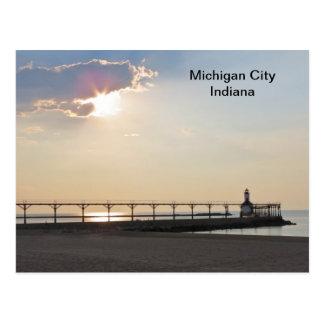 Ciudad de Michigan por la tarde Postales