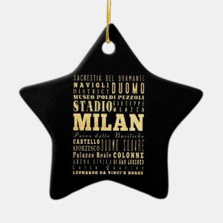Ciudad de Milano del arte de la tipografía de Ital Ornatos