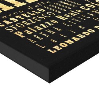 Ciudad de Milano del arte de la tipografía de Ital Lona Envuelta Para Galerias