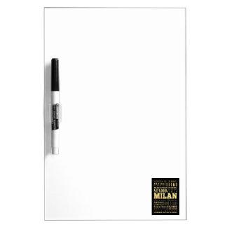 Ciudad de Milano del arte de la tipografía de Ital Tablero Blanco