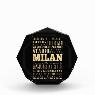 Ciudad de Milano del arte de la tipografía de Ital