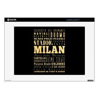 Ciudad de Milano del arte de la tipografía de Ital Portátil Skin