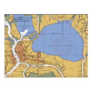 Ciudad de Morgan, postal náutica de la carta de Lu