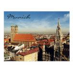ciudad de Munich Tarjeta Postal