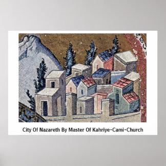 Ciudad de Nazaret por el amo de la Kahriye-Cami-Ig Poster