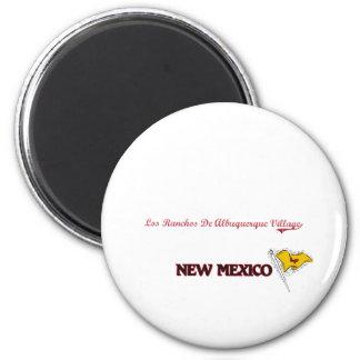 Ciudad de New México del pueblo del De Albuquerque Imán Redondo 5 Cm