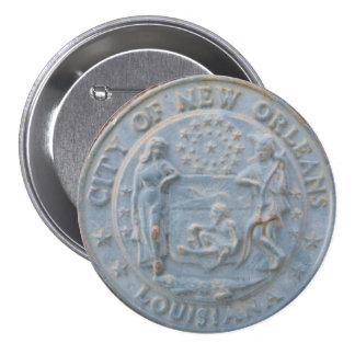 Ciudad de New Orleans (botón redondo) Pins