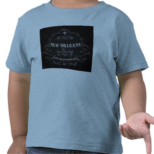 Ciudad de New Orleans, Luisiana con alma Camisetas
