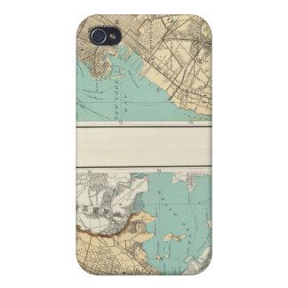 Ciudad de NY Brooklyn iPhone 4/4S Carcasa