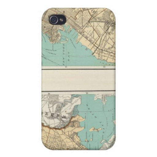 Ciudad de NY, Brooklyn iPhone 4/4S Carcasa