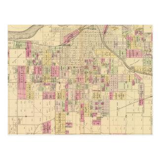 Ciudad de Omaha, Nebraska Tarjeta Postal