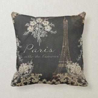 Ciudad de París de la pizarra de la torre Eiffel Cojín
