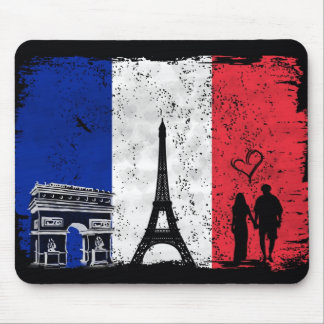 Ciudad de París del amor Mousepad