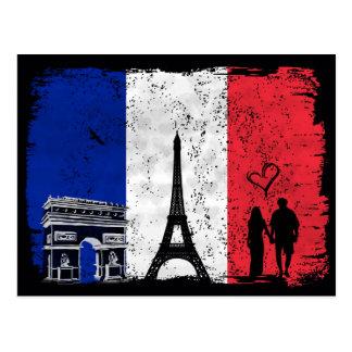 Ciudad de París del amor Postal