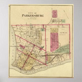 Ciudad de Parkersburg, Virginia Occidental Póster