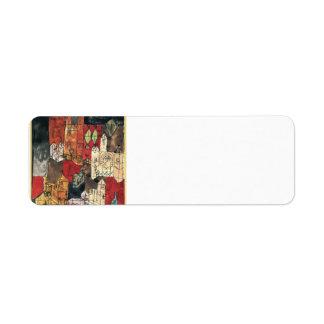 Ciudad de Paul Klee- de iglesias Etiqueta De Remite