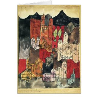 Ciudad de Paul Klee- de iglesias Tarjetón