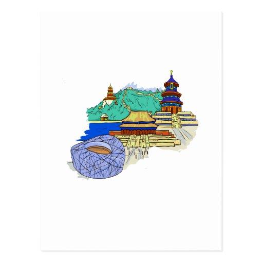 ciudad de Pekín ningún viaje graphic.png del txt Tarjetas Postales