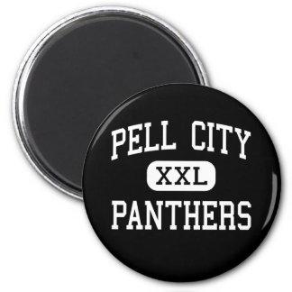 Ciudad de Pell - panteras - alta - ciudad Alabama  Imán Redondo 5 Cm