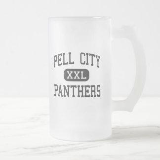 Ciudad de Pell - panteras - alta - ciudad Alabama  Taza Cristal Mate