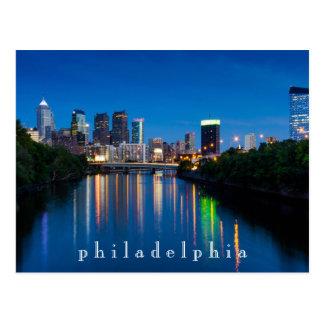 Ciudad de Philadelphia en la postal del recuerdo