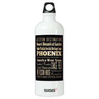 Ciudad de Phoenix del arte de la tipografía del