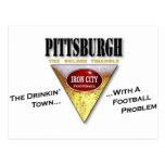 Ciudad de Pittsburgh Drinkin con un problema del f Tarjetas Postales