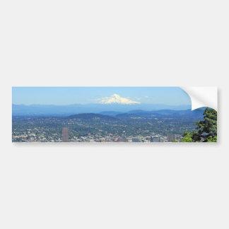 Ciudad de Portland Oregon y Mountain View Etiqueta De Parachoque