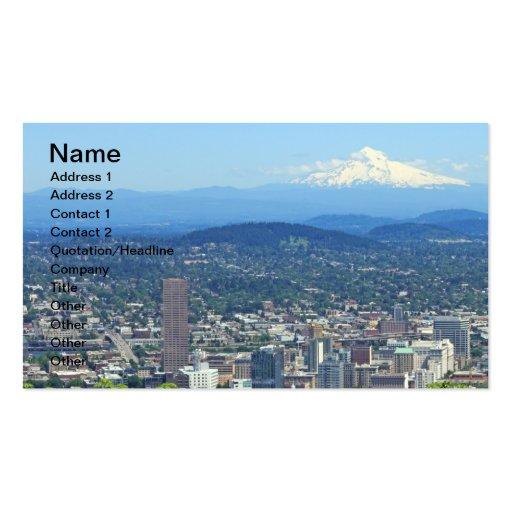 Ciudad de Portland, Oregon y Mountain View Tarjetas De Negocios